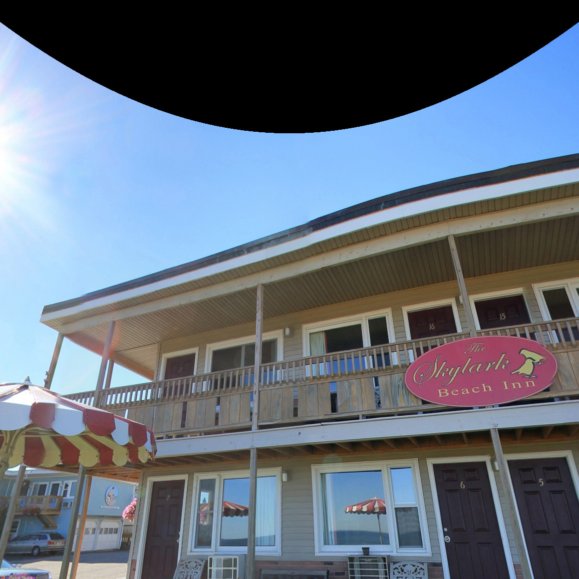 Panorama Of Our Skylark Oceanfront Old Orchard Beach Patio